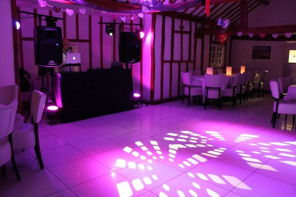Dancefloor and setup